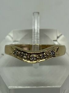 18CT YELLOW GOLD SLIGHT ROUNDED WISHBONE RING SMALL SIZE L