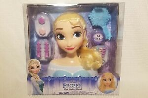 Frozen Styling Elsa Head  Hair Princess Doll Deluxe Brush