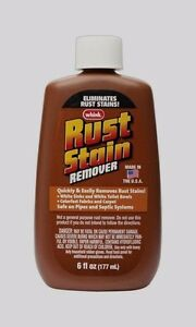 WHINK Liquid RUST Stain Remover Cleans From Fabrics White Bowls Sinks 6oz