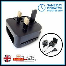 Black EU UK Plug Mains Adaptor - She & FHI & H2D & Corioliss Hair straighteners