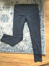 Womens XL horizontal pin stripe blue yoga pants leggings workout athleisure