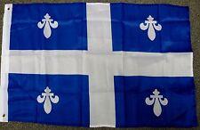 QUEBEC FLAG 2X3 FLAG DAY FLEURS-DE-LIS CROSS QUEBECOIS CANADA  2'X3'  F1104
