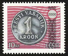 Estonia 2000 MNH, Goral, Kroon, Money, Currency on Stamp