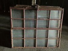 Antike Stallfenster aus Gusseisen, mit Öffnung, 52kg,Fenster, 1,02m x 1,23m, (6)