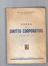 corso di diritto corporativ -prof.avv adrianoiolivetti anni accademici 1936-37