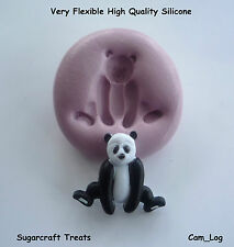 Panda Bear Animal Silicone Mould  Sugarcraft, Cup Cake Card Toppers, Fimo