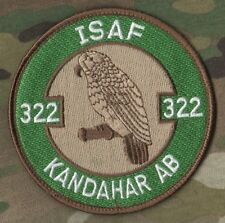 F-16 SWIRL VELCRO PATCH: ISAF RNlAF 322 SQN Polly Parrot KANDAHAR AB Afghanistan