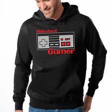 Oldschool Gamer Nerd Geek Retro 8Bit Gamepad Kapuzenpullover Hoodie Sweatshirt