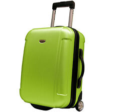 """Travelers Choice Green Freedom 21"""" Lightweight Carry-on Rolling Luggage Suitcase"""