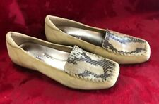 Enzo Angiolini Women Shoes Lanny Beige Tan Suede Leather Flats Loafers 8 M NEW