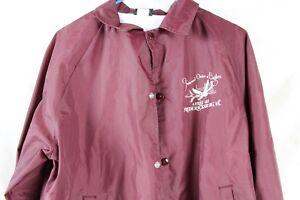 Vintage Fraternal Order Of Eagles Bomber Snap-Up Jacket M Rare Old Collectable