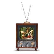Charming Tails Charming Tails Led Tv Christmas Rotating 30370 Nib