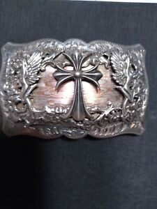 Comstock silver belt buckle. Multi layered silver!