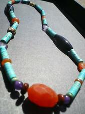 1 Nice Turquoise & Native Trade Beads Navajo Artistic Necklace