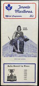 1979 OHA Hockey St. Catherine's Blackhawks Toronto Marlies Playoff Program