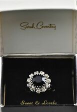 Vintage Sarah Coventry Ring Blue Stone SWEET & LOVELY z6 adjustable #5119 In Box