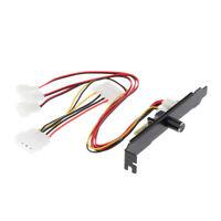 3 Channel Computer PCI Fan Speed Controller Hub Mini 3Pin & 4Pin Power 12V