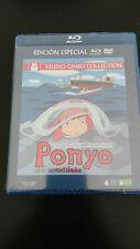 PONYO EN EL ACANTILADO STUDIO GHIBLI MIYAZAKI BLU-RAY + DVD SEALED NEW NUEVA
