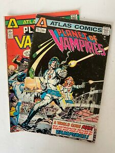 Atlas Comics - Lot of 4 Comics, PLANET OF VAMPIRES and TIGER-MAN, 1975