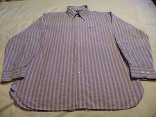Tommy Hilfiger Multi-Color 100% Button Front Men's Long Sleeve Shirt-L