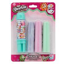 New Cute Shopkins Chalk Set Chalk Holder 3 Chalk Sticks Sidewalk Decal Fun 4 All