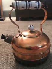 "Vintage 6.5"" Solid Copper Tea Kettle"