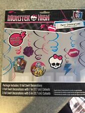 Monster High 12 Pcs Birthday Foil Hanging swirl Ceiling Decorations Party Supply