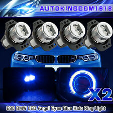 4x 6W High Power BMW Angel Eyes E90 E91 3 Series LED Lights Ring Bulbs Blue Halo