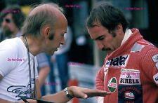 Clay Regazzoni & Mo Nunn Ensign F1 retrato alemán Grand Prix 1977 fotografía