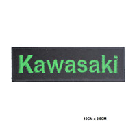 Kawasaki Motor Bike Embroidered Iron On Sew On Patch Badge For Clothes etc