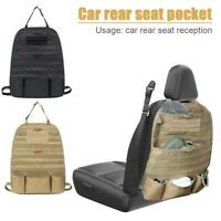 Car Rear Seat Storage Bags Hanging Molle Pouch Vehicle Seat Panel Cover Case