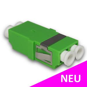 LWL Kupplung LC/APC Duplex Singlemode ohne Flansch für Spleißboxen | grün