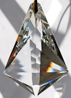 SunCatcher - Huge 89mm Mystic Trident Crystal Clear Prism 3.5 inches
