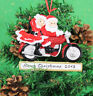 Personalised Couples Christmas Tree Ornament Decoration Santa Motorcycle couple
