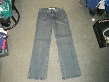 """GAP faible hausse nous flare taille 8 taille jambe 31 """" 32"""" délavé dames jeans bleu foncé"""