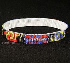 TATEOSSIAN LONDON POP COMIC PRINT BRACELET Size L 19.5 cm, RRP £210, BNIB