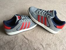 Adidas Varial Originals Trainers - Grey With Blue & Red Detail - UK Size 5.5