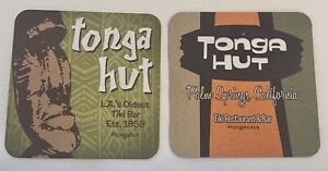 TONGA ROOM Tiki Bar Beer Coasters X2 Palm Springs LA's Oldest New