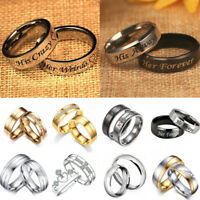 Men Women 925 Silver Couples Ring CZ Band Ring Party Wedding Engagement Jewelry