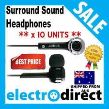 x 10 UNITS Surround Sound Headphones For Iphone,Android,HTC,Ipad,Ipod Best Sound