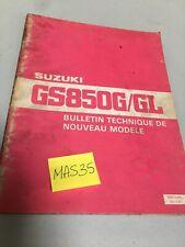 Suzuki GS850G GS 850 G GL GSG GS850 manuel bulletin technique modèle 1980
