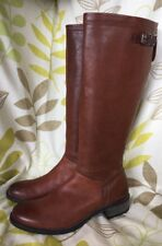 PAUL GREEN munchen LADIES TAN LEATHER KNEE HIGH BOOTS size 8 Uk 42 Eur