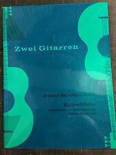 Bach petites pièces pour deux guitares Hubert Zanoskar score partition