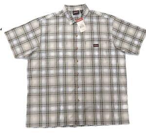 Dickies 1399 Short Sleeve Button Up Work Shirt Mens 2XL New Plaid