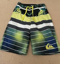 Boys Quiksilver board shorts- Size 23- (New)- Floral/stripe print