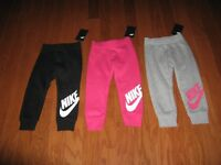 NIKE GIRLS  ATHLETIC JOGGERS WITH SWOOSH SIZE 2T/3T/4T/ NWT