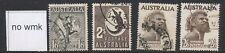 AUSTRALIA,  1952 no wmk 1s6d, 2s, 2s6d (both) FU, SG224e,224f,253b,253ba (N)