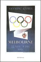 POSTCARD - GIOCHI OLIMPICI OLIMPIADI OLYMPIC GAMES MELBOURNE MELBURNE 1956