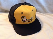 Vintage Pittsburgh Steelers SnapBack Cap Mesh Trucker Hat NFL Patch