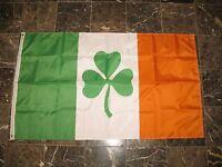 3x5 Ireland Shamrock Double Sided Sewn 2ply 210D Nylon Flag 3'x5' Gift set